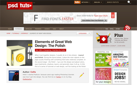 elements of great web design