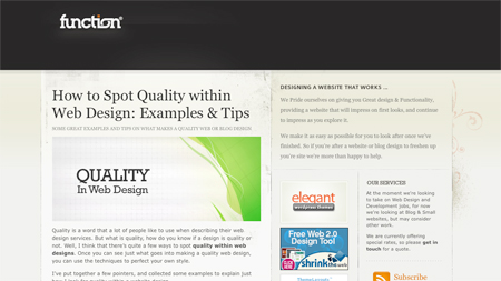 quality in web design function