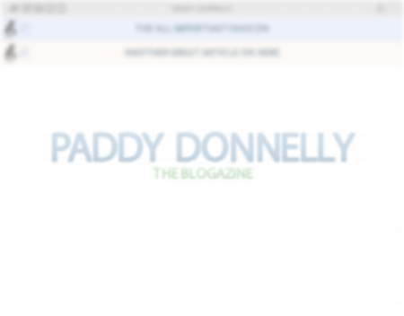 blogazine paddy donnelly